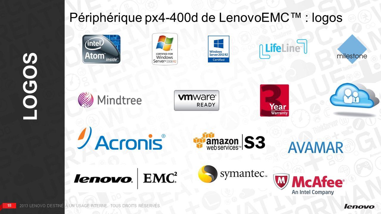 Périphérique px4-400d de LenovoEMC™ : logos