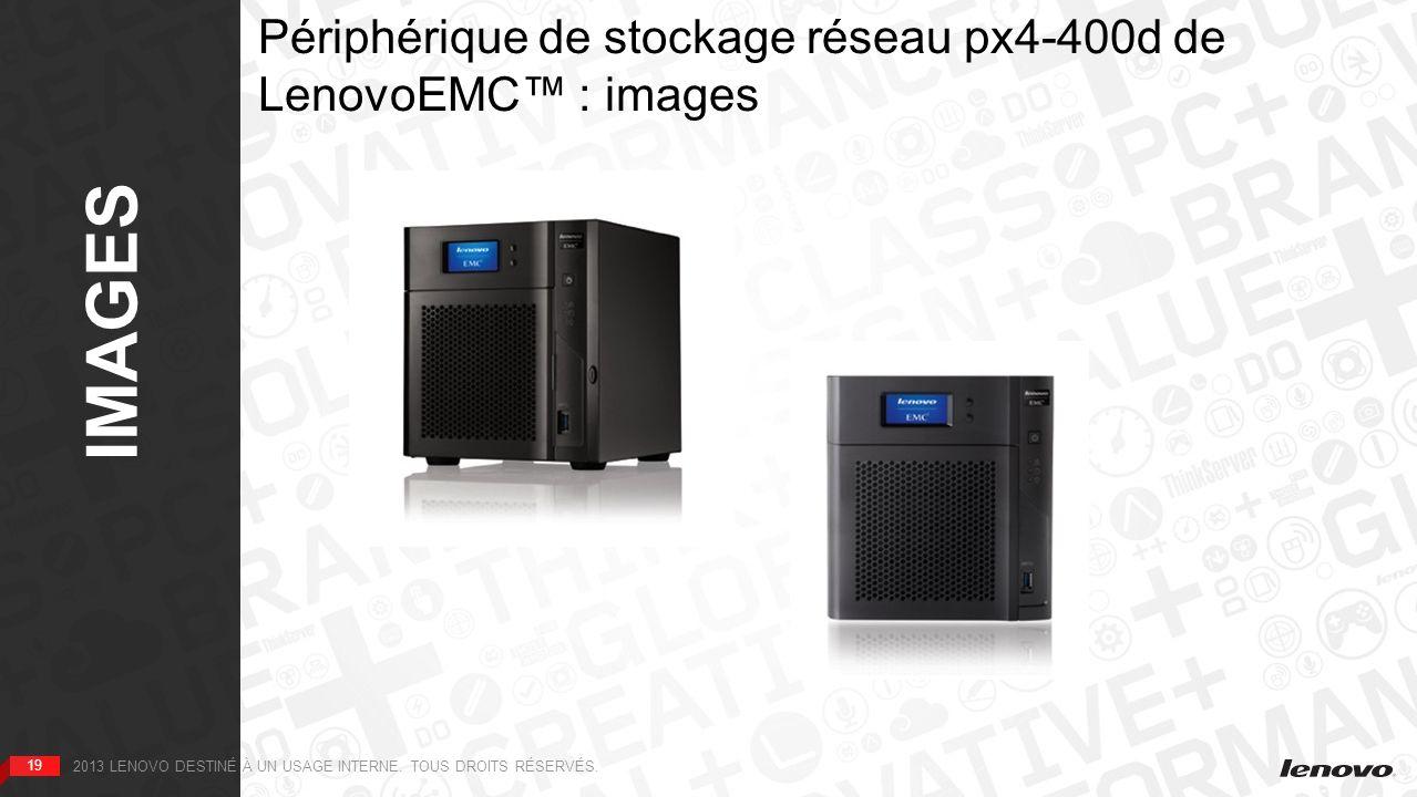 Périphérique de stockage réseau px4-400d de LenovoEMC™ : images