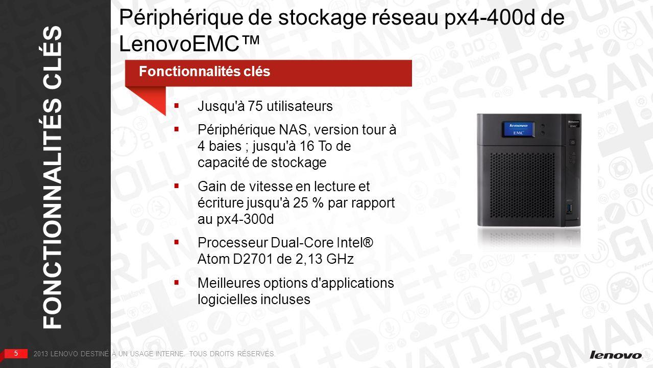 Périphérique de stockage réseau px4-400d de LenovoEMC™