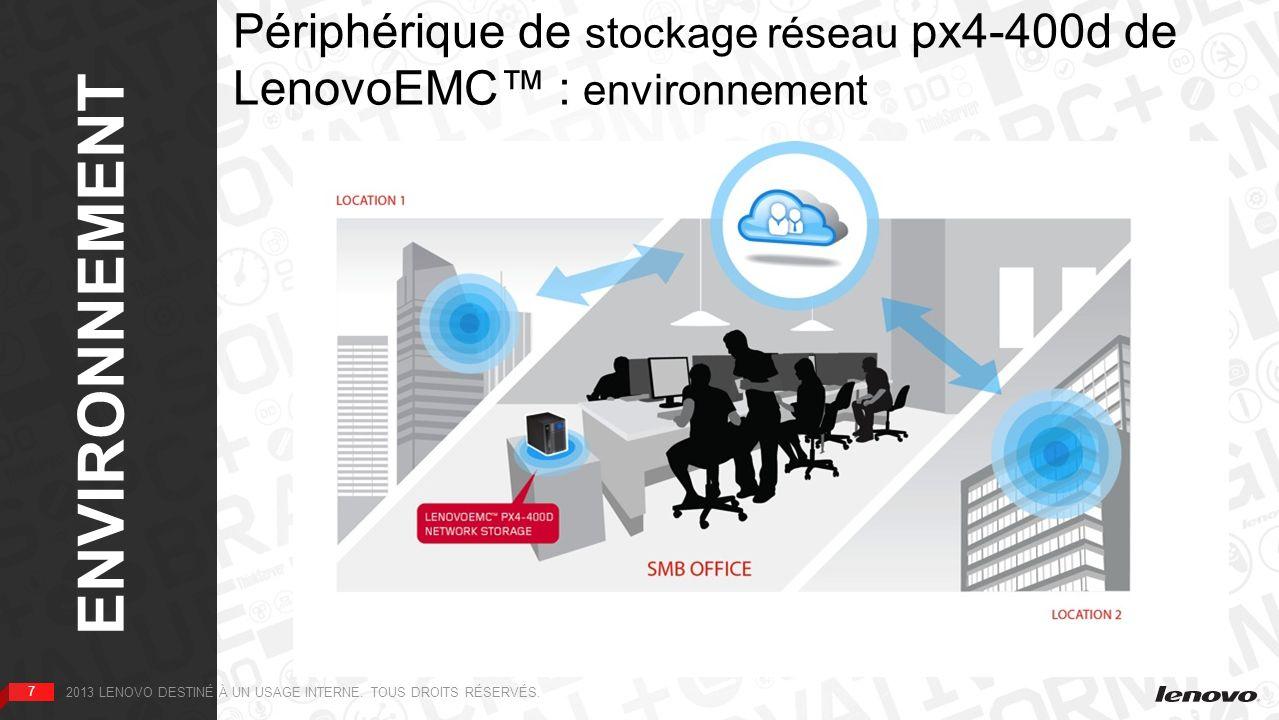 Périphérique de stockage réseau px4-400d de LenovoEMC™ : environnement