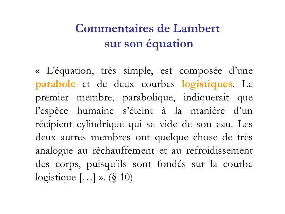 Commentaires de Lambert