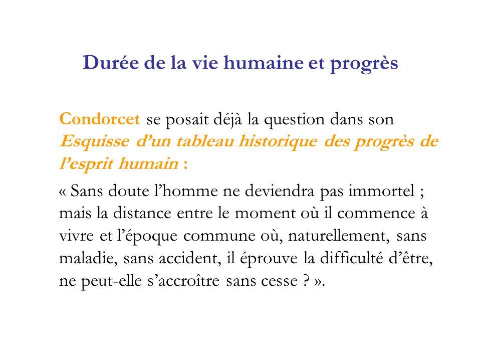 Durée de la vie humaine et progrès