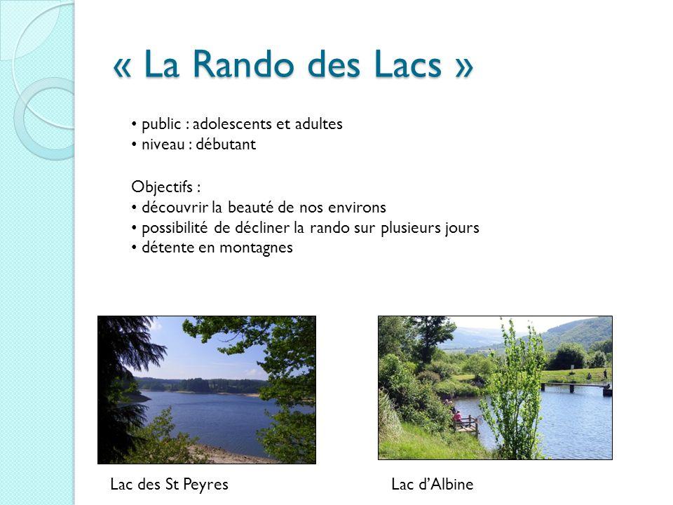 « La Rando des Lacs » public : adolescents et adultes