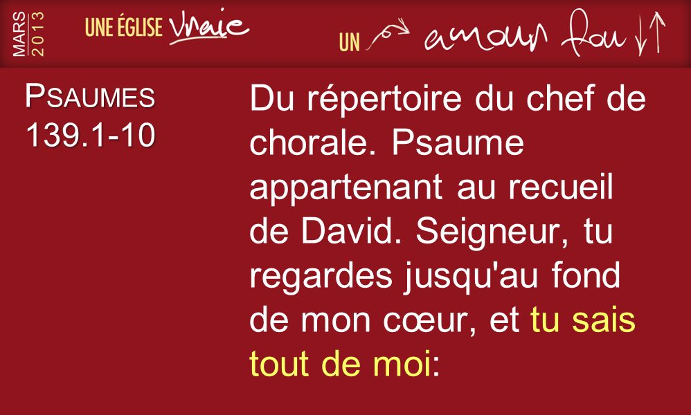 Psaumes 139.1-10