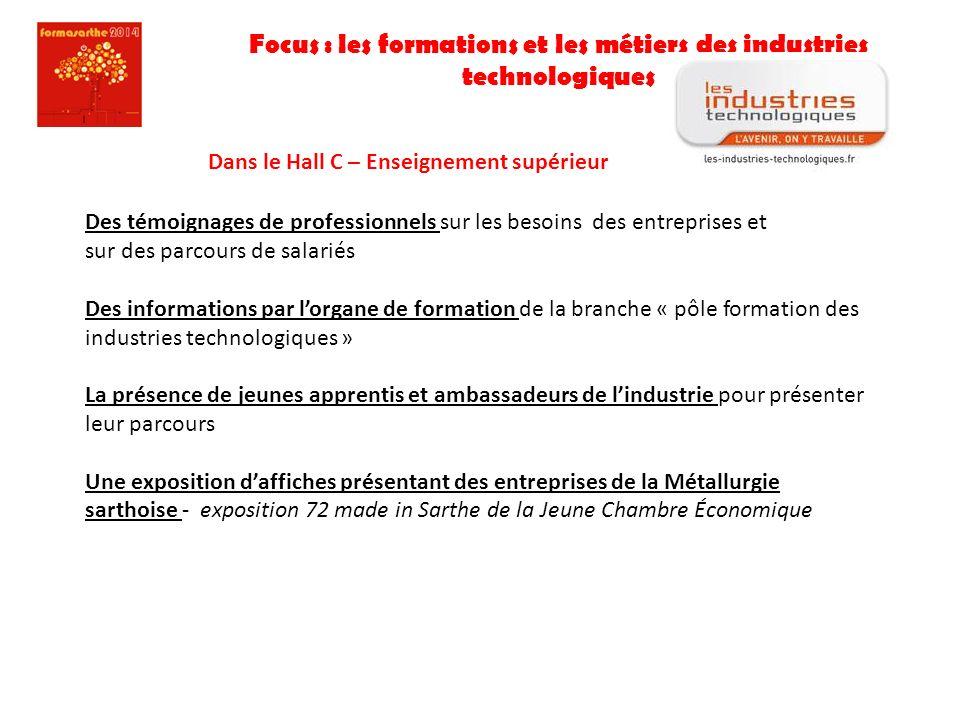 Focus : les formations et les métiers des industries technologiques