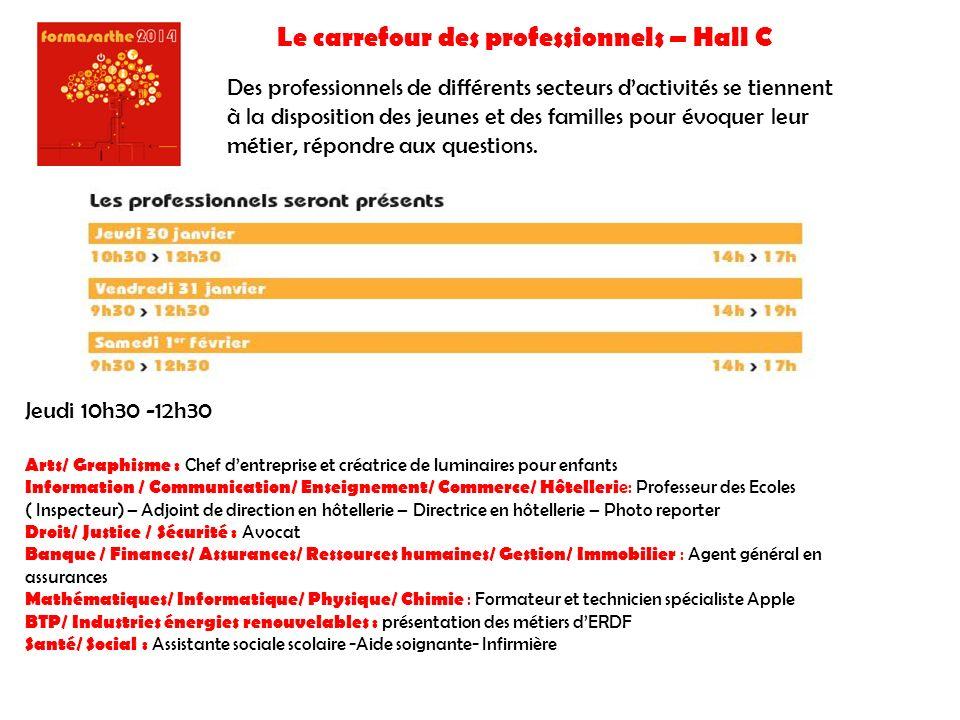 Le carrefour des professionnels – Hall C