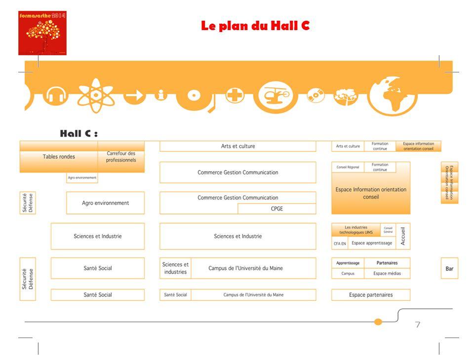 Le plan du Hall C