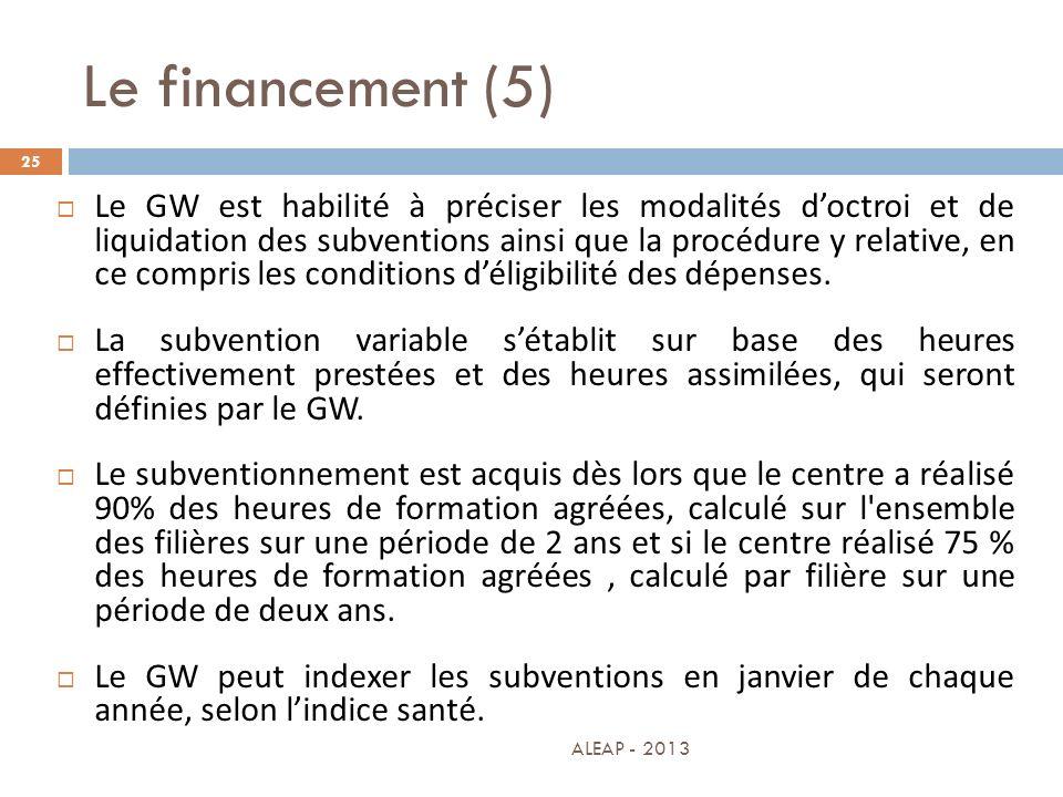 Le financement (5)