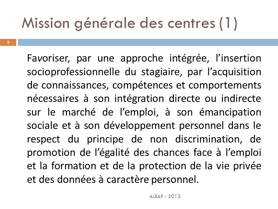 Mission générale des centres (1)