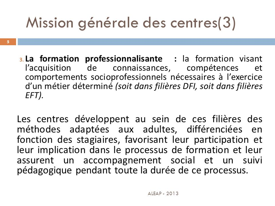 Mission générale des centres(3)