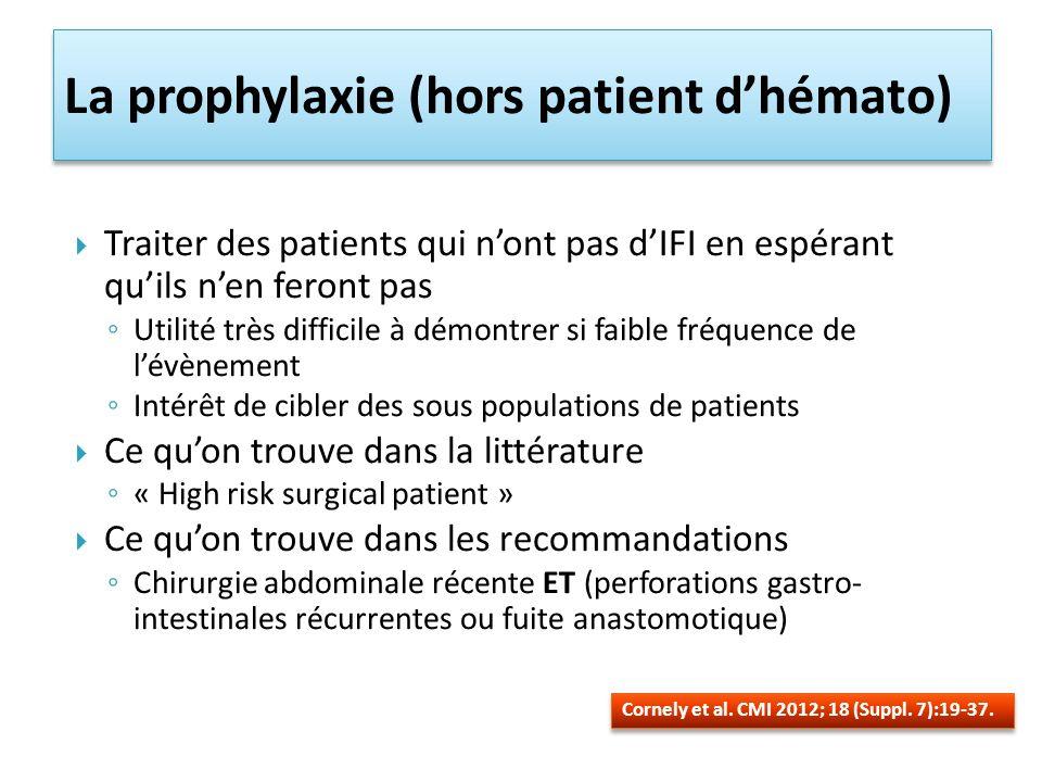 La prophylaxie (hors patient d'hémato)