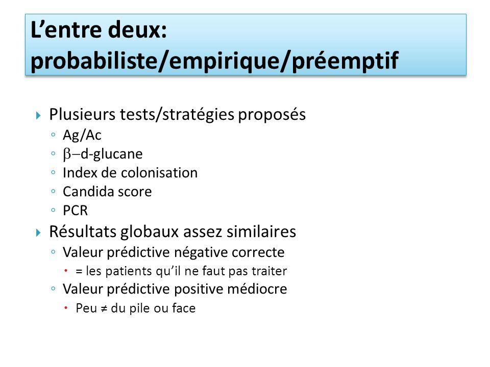 L'entre deux: probabiliste/empirique/préemptif