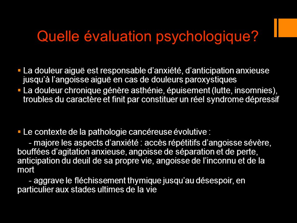 Quelle évaluation psychologique