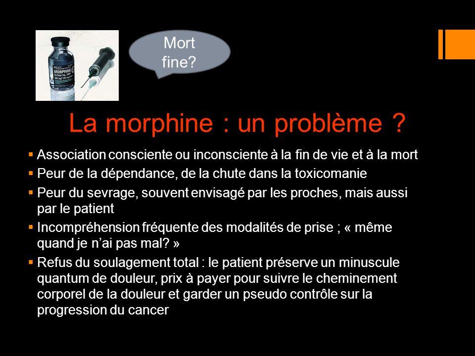 La morphine : un problème