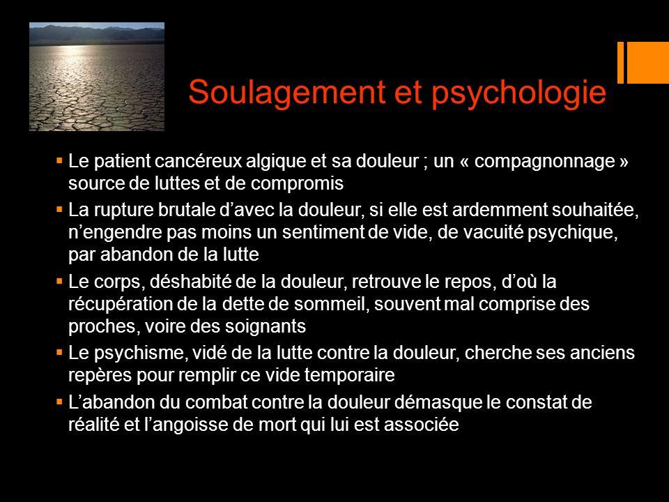 Soulagement et psychologie