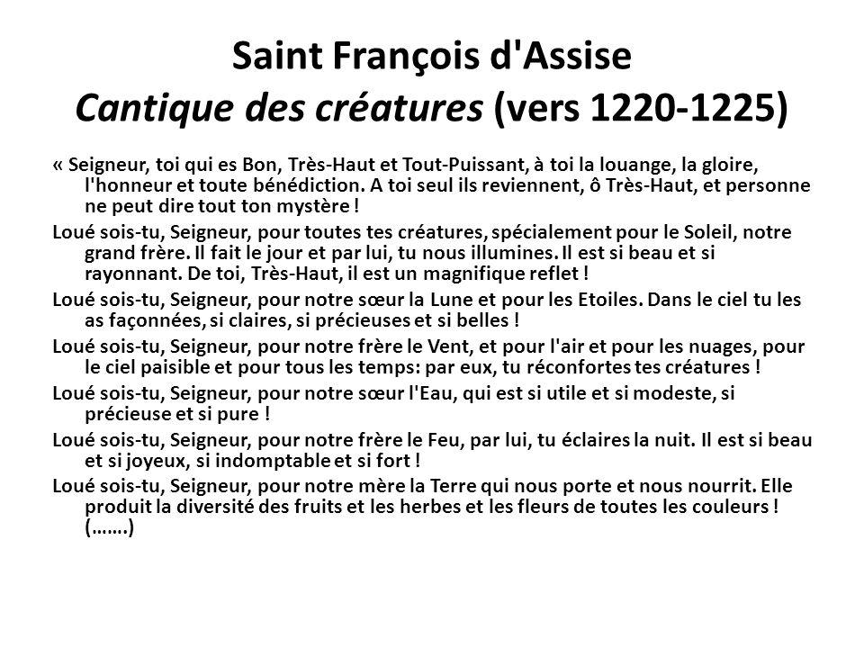 Saint François d Assise Cantique des créatures (vers 1220-1225)