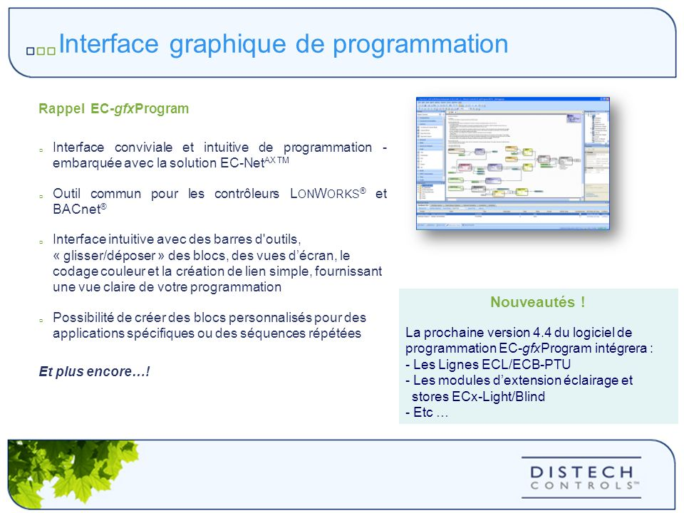 Interface graphique de programmation