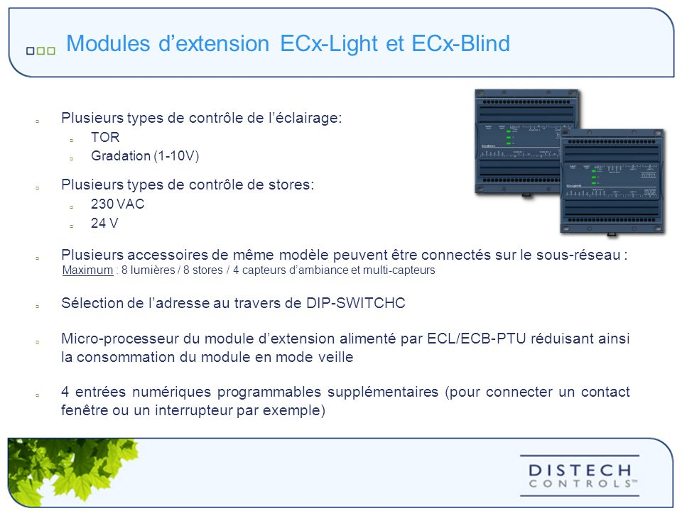 Modules d'extension ECx-Light et ECx-Blind