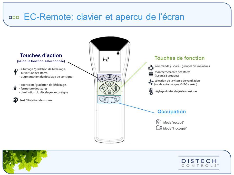 EC-Remote: clavier et apercu de l'écran