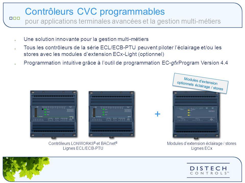 Contrôleurs CVC programmables pour applications terminales avancées et la gestion multi-métiers