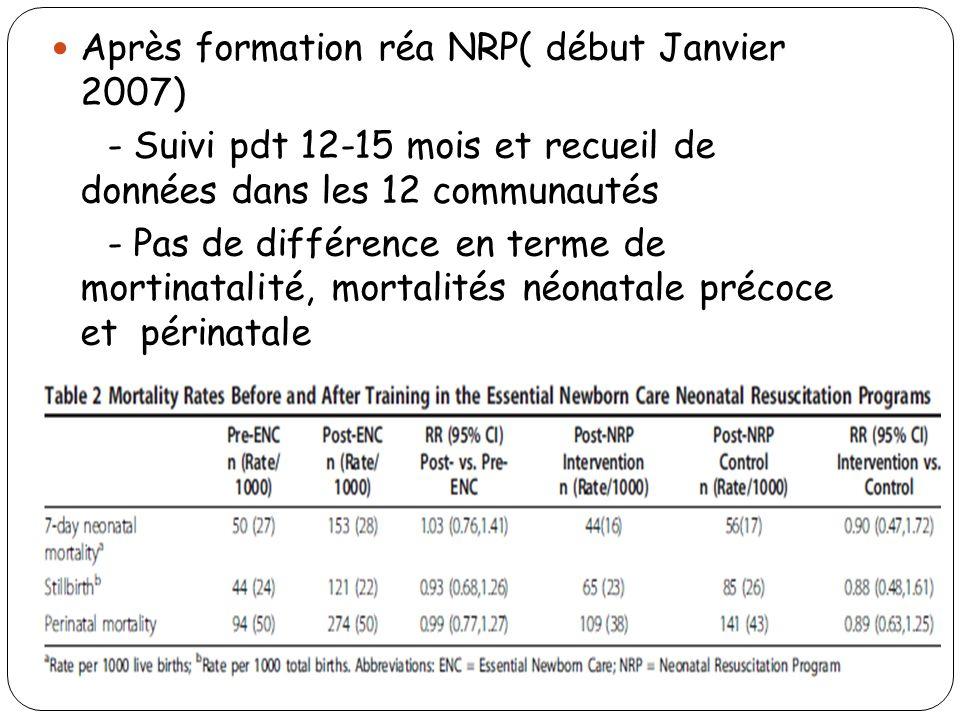 Après formation réa NRP( début Janvier 2007)
