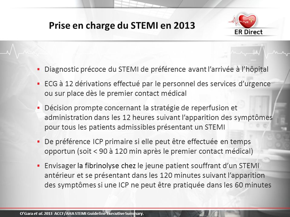 Prise en charge du STEMI en 2013