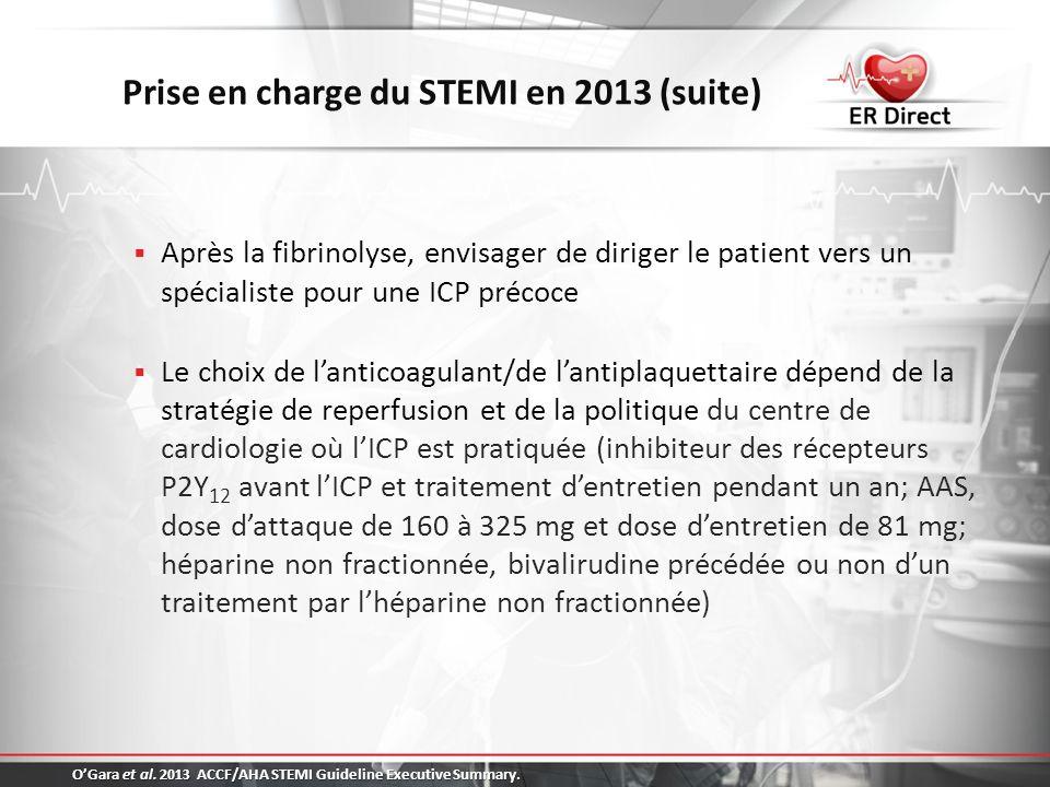 Prise en charge du STEMI en 2013 (suite)
