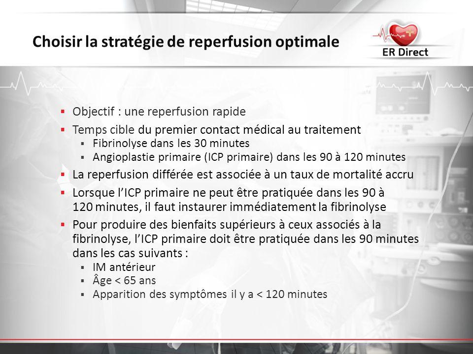 Choisir la stratégie de reperfusion optimale