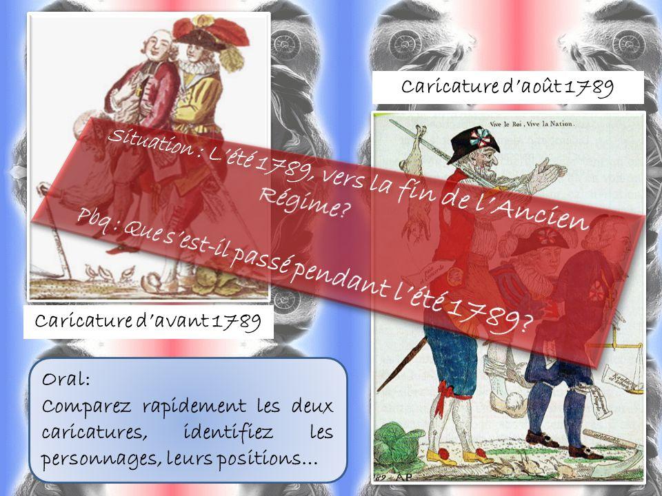 Situation : L'été 1789, vers la fin de l'Ancien Régime