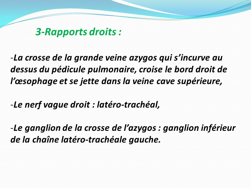 3-Rapports droits :