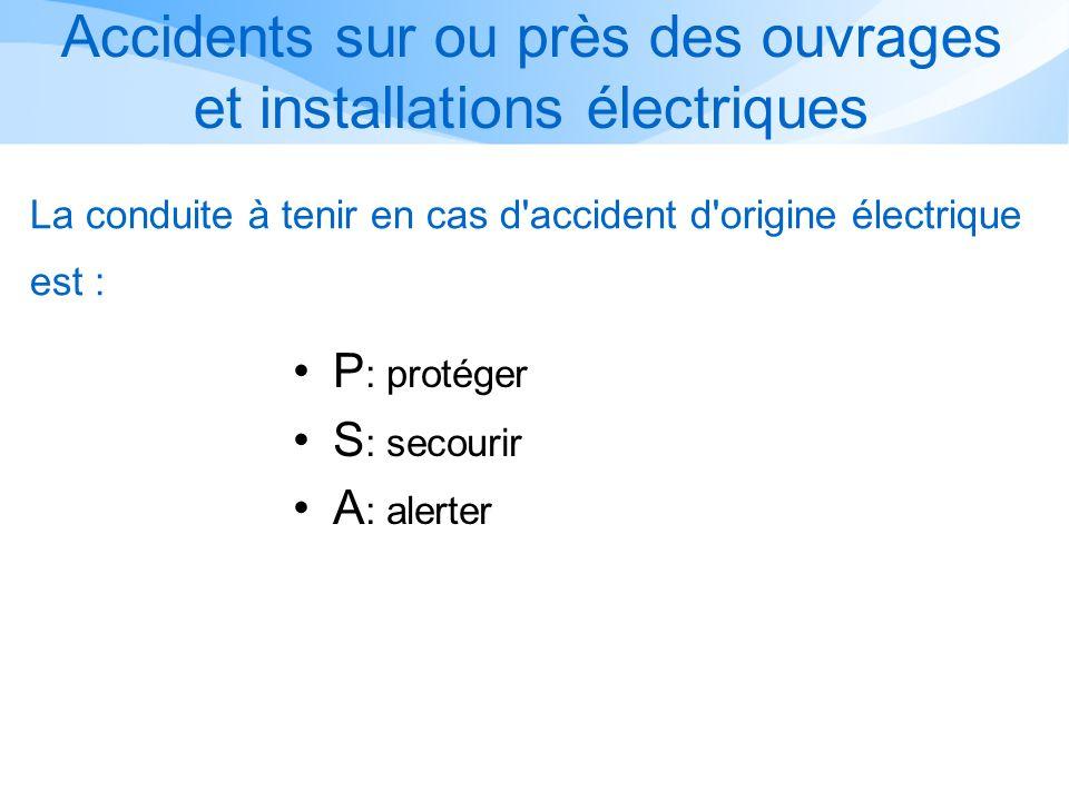 Accidents sur ou près des ouvrages et installations électriques