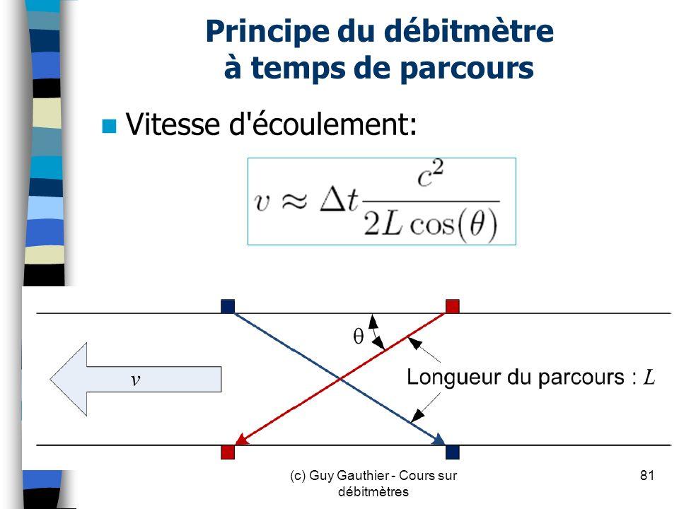 Principe du débitmètre à temps de parcours