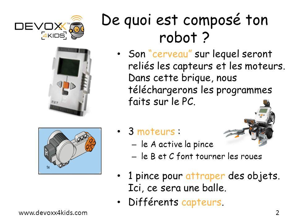 De quoi est composé ton robot