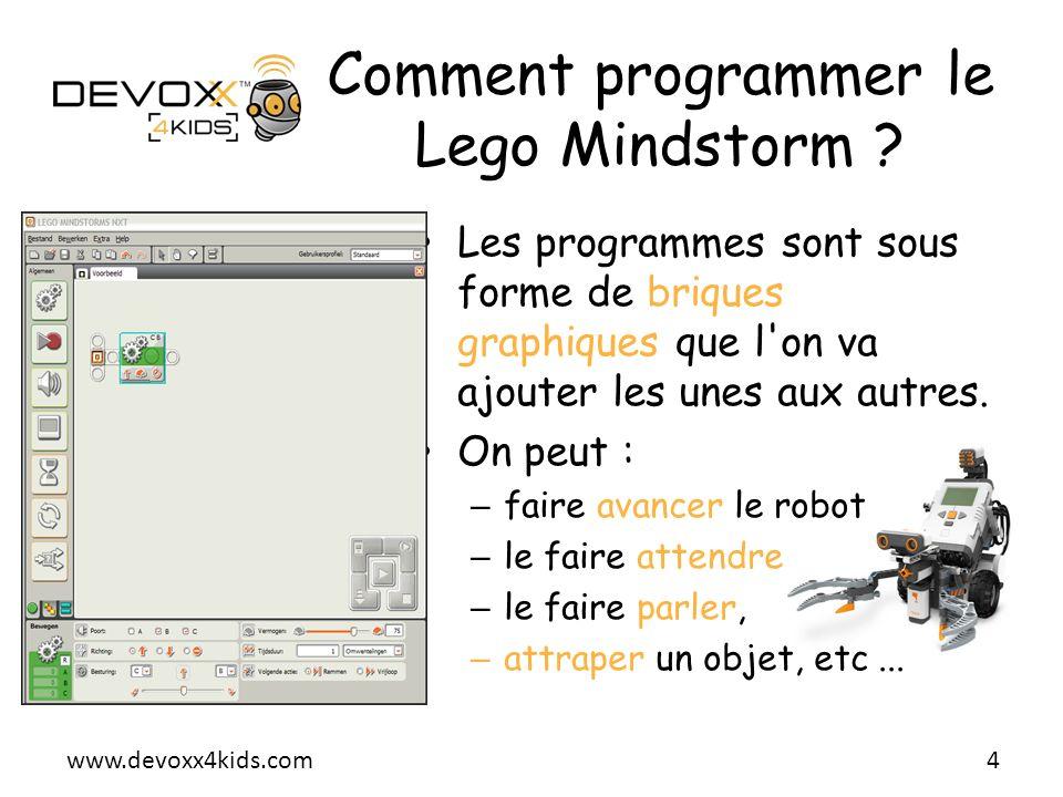 Comment programmer le Lego Mindstorm