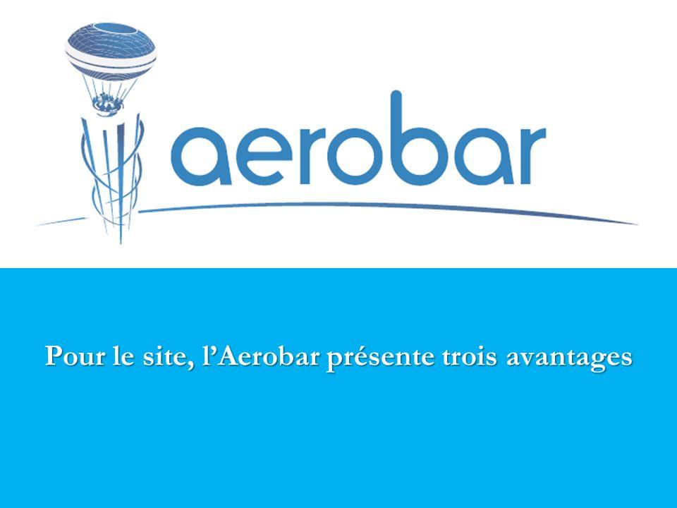 Pour le site, l'Aerobar présente trois avantages