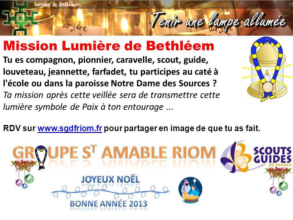Mission Lumière de Bethléem
