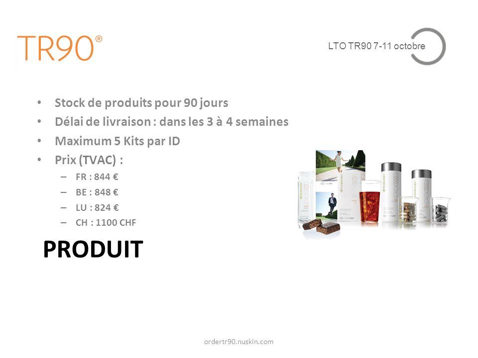 PRODUIT Stock de produits pour 90 jours