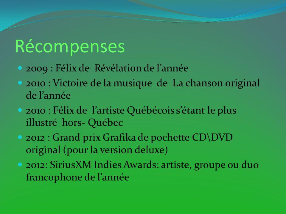 Récompenses 2009 : Félix de Révélation de l'année