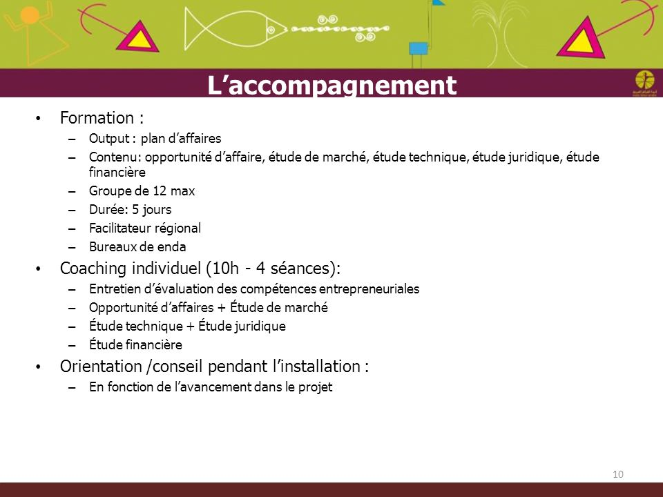 L'accompagnement Formation : Coaching individuel (10h - 4 séances):
