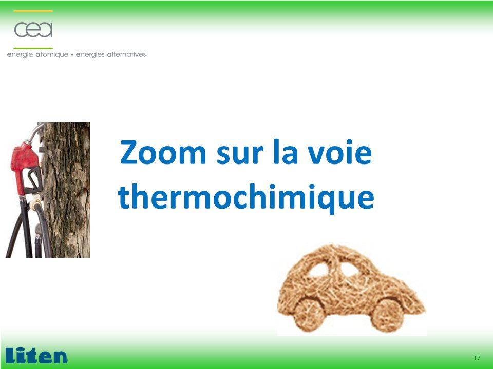 Zoom sur la voie thermochimique
