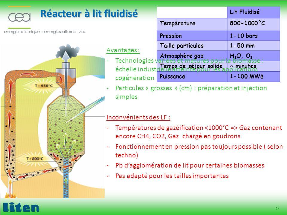 Réacteur à lit fluidisé
