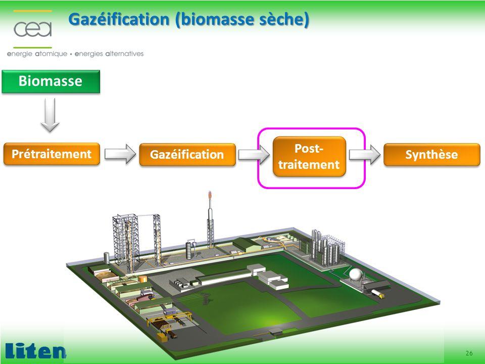 Gazéification (biomasse sèche)