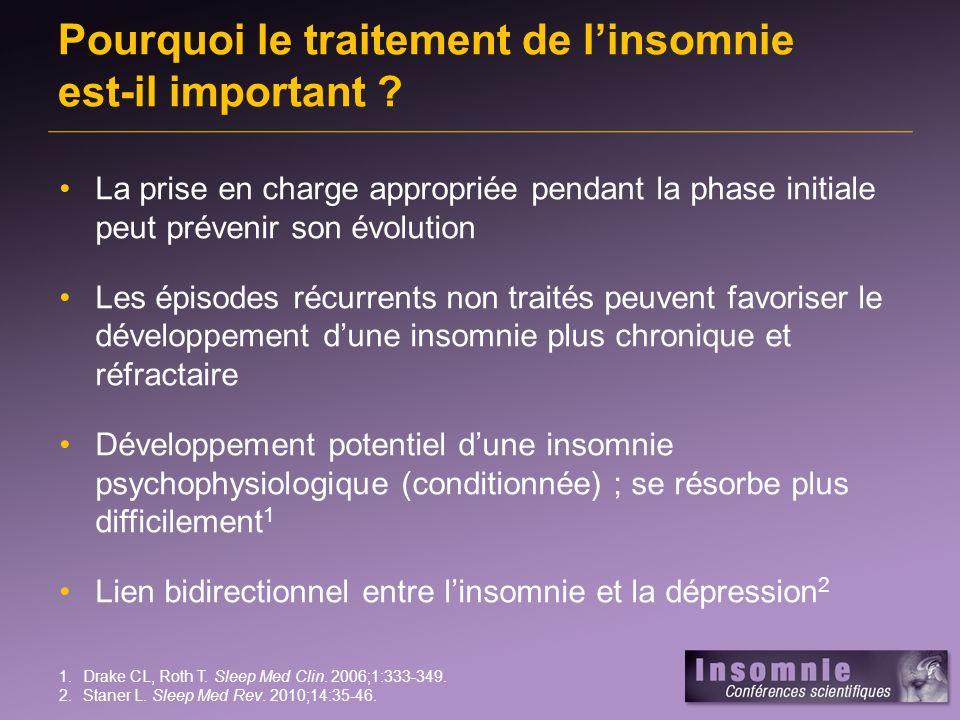 Pourquoi le traitement de l'insomnie est-il important