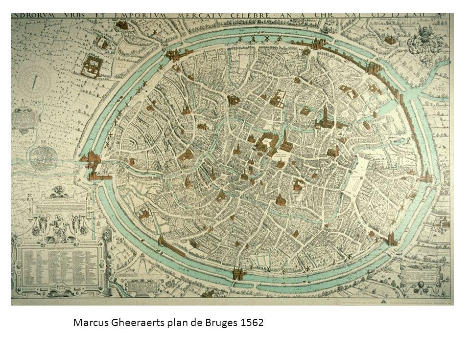 Marcus Gheeraerts plan de Bruges 1562