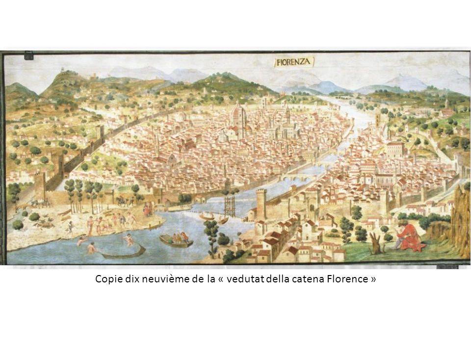 Copie dix neuvième de la « vedutat della catena Florence »