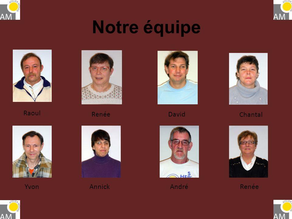 Notre équipe Raoul Renée David Chantal Yvon Annick André Renée
