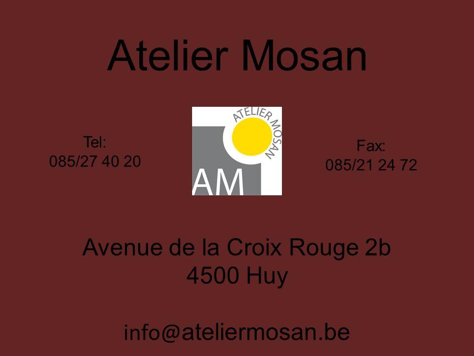 Avenue de la Croix Rouge 2b 4500 Huy info@ateliermosan.be