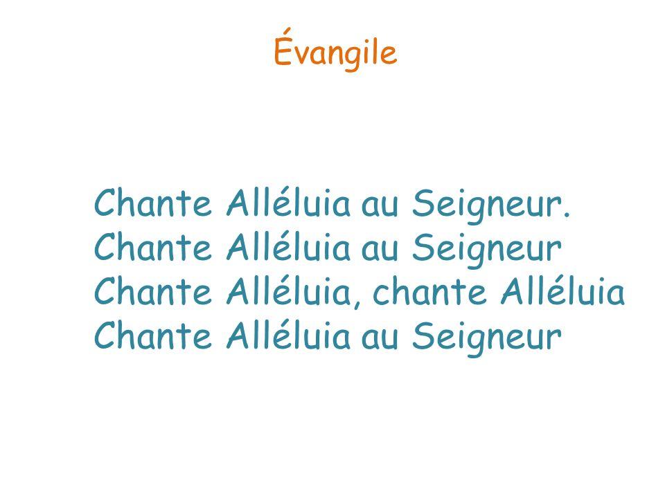 Évangile Chante Alléluia au Seigneur.