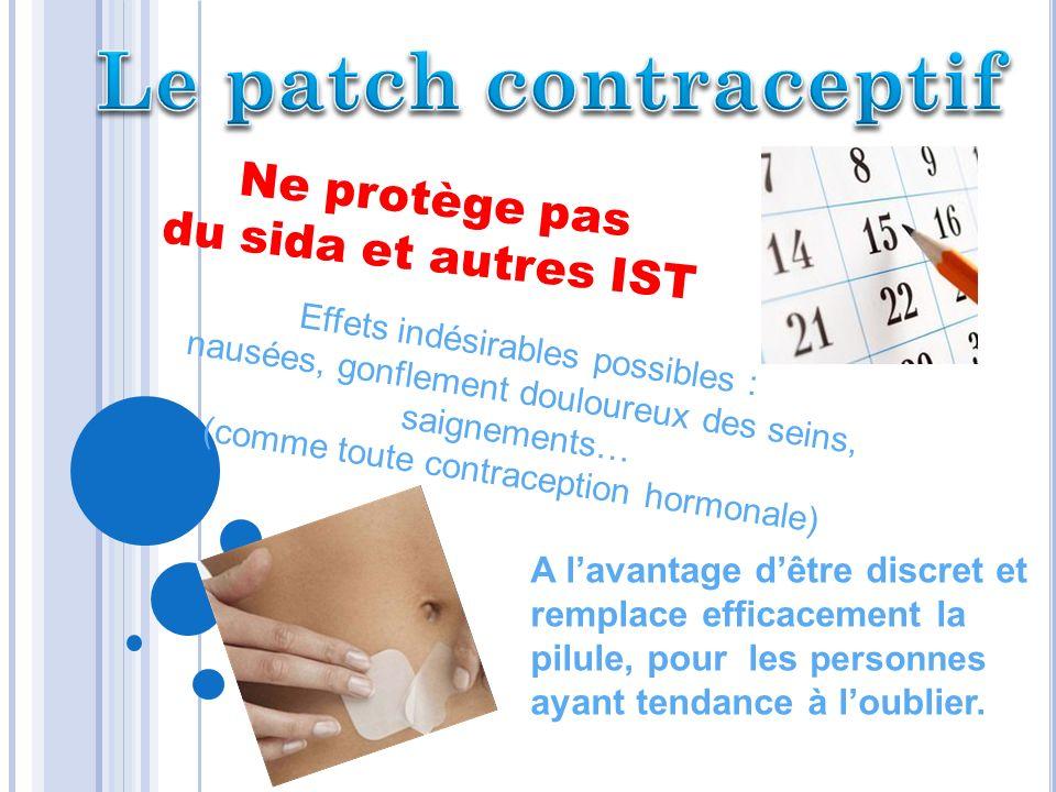 Le patch contraceptif Ne protège pas du sida et autres IST