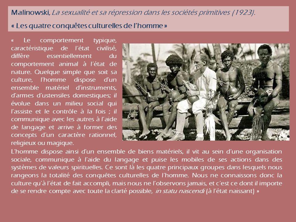 « Les quatre conquêtes culturelles de l'homme »